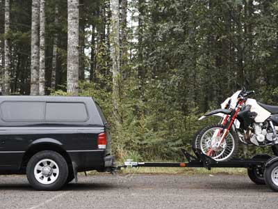 towing motocross bikes